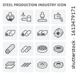 steel production and metallurgy ...   Shutterstock .eps vector #1613479171