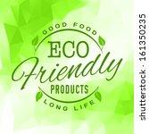 retro vintage styled bio eco... | Shutterstock .eps vector #161350235