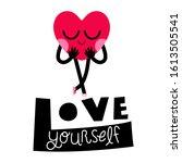 cute heart cartoon character...   Shutterstock .eps vector #1613505541
