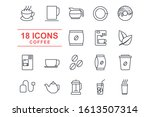 set coffee icon template color...   Shutterstock .eps vector #1613507314