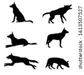 vector set of silhouette of... | Shutterstock .eps vector #1613507527