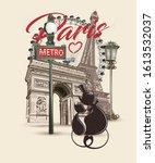 Travel Paris Poster With Eiffel ...