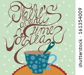 stylish concept  card with ... | Shutterstock .eps vector #161354009