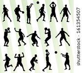 man basketball vector... | Shutterstock .eps vector #161354507