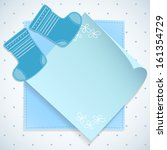 baby boy shower card. knitted... | Shutterstock .eps vector #161354729