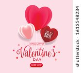 valentine's day special offer... | Shutterstock .eps vector #1613548234