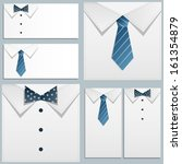 shirt and tie on white... | Shutterstock .eps vector #161354879