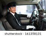 handsome smiling chauffeur...
