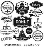vintage retro bakery badges and ... | Shutterstock .eps vector #161358779