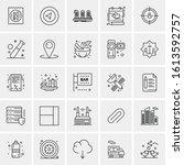 25 universal icons vector... | Shutterstock .eps vector #1613592757