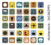 business and computer icons set ... | Shutterstock .eps vector #161362991