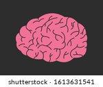 brain logo silhouette. vector... | Shutterstock .eps vector #1613631541