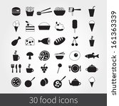 food icons | Shutterstock .eps vector #161363339