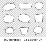 retro comic speech bubble. chat ... | Shutterstock .eps vector #1613645407