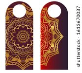 price tags with mandala... | Shutterstock . vector #1613670037