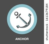 anchor icon. flat illustration... | Shutterstock .eps vector #1613679184