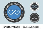 unlimited resources stamp... | Shutterstock .eps vector #1613686801