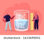 optimist and pessimist concept. ... | Shutterstock .eps vector #1613690041