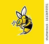 angry bee modern vector... | Shutterstock .eps vector #1613693551