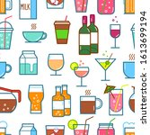 set of drink and beverage icons.... | Shutterstock .eps vector #1613699194