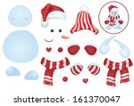 vector snowman template  make... | Shutterstock .eps vector #161370047