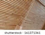 wood stripes facade building... | Shutterstock . vector #161371361