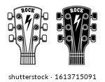 Illustration Of Guitar Head...