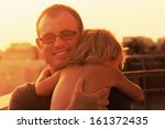 lovely father and daughter | Shutterstock . vector #161372435