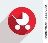 vector red circle icon  on gray ... | Shutterstock .eps vector #161372855