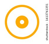 compact disk icon. cd or dvd... | Shutterstock .eps vector #1613761351