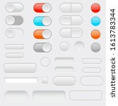 web interface buttons. toggle...   Shutterstock .eps vector #1613783344