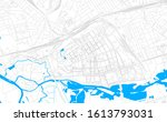 bright vector map of brest ... | Shutterstock .eps vector #1613793031