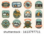 summer camp and hunting club... | Shutterstock .eps vector #1613797711