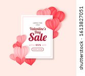 up to 55  off for valentine's... | Shutterstock .eps vector #1613827051