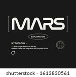 mars fashion slogan for...   Shutterstock .eps vector #1613830561