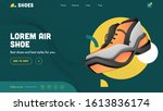 air shoes landing page design...
