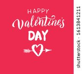 happy valentine's day text red... | Shutterstock .eps vector #1613841211