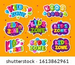kids zone logo. colored emblem... | Shutterstock .eps vector #1613862961