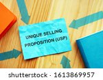Small photo of Conceptual photo showing printed text Unique Selling Proposition (USP)