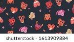 happy hearts seamless pattern   ...   Shutterstock .eps vector #1613909884