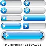 light bulb blue design elements ... | Shutterstock .eps vector #161391881