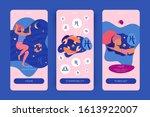 pisces zodiac sign. mobile app... | Shutterstock .eps vector #1613922007