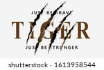wild hunt slogan with tiger.... | Shutterstock .eps vector #1613958544