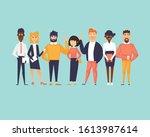 multinational team. flat design ...   Shutterstock .eps vector #1613987614