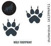 wolf footprint. flat and solid...   Shutterstock .eps vector #1613996911
