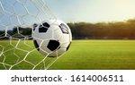 soccer ball in goal.football in ...   Shutterstock . vector #1614006511