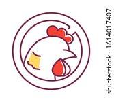 animal care color line icon....