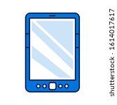 digital tablet color line icon. ...
