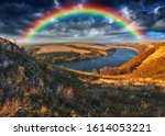 Rainbow Over The River. Dniste...