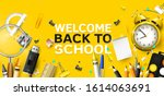 back to school header or banner ... | Shutterstock .eps vector #1614063691